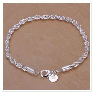 925 Sterling Silver Rope Bracelet